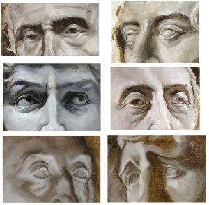 painted studies of eyes